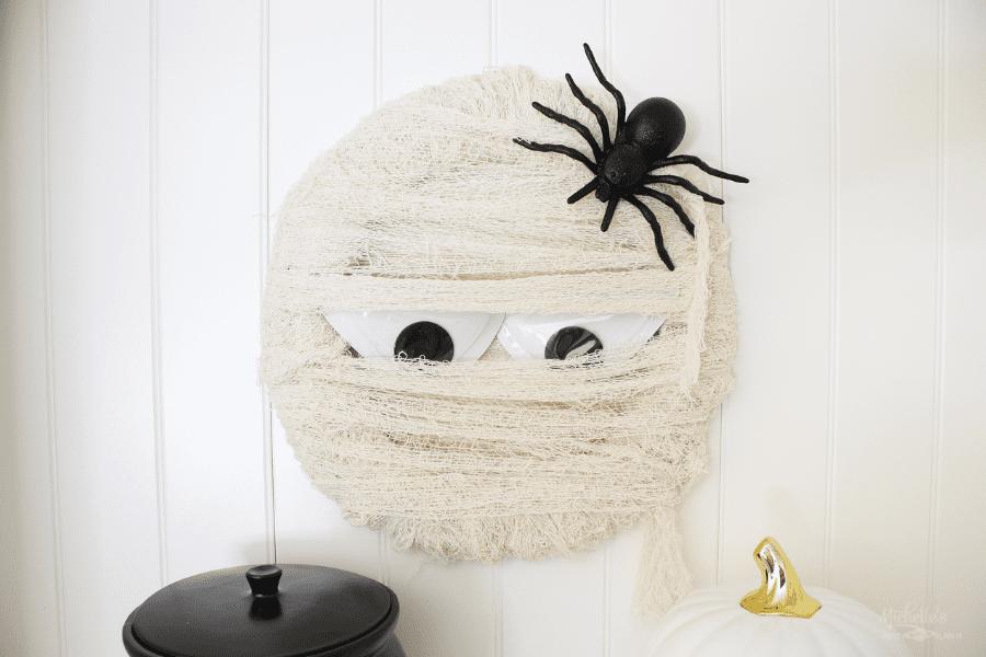 DIY Mummy Wreath $6 project