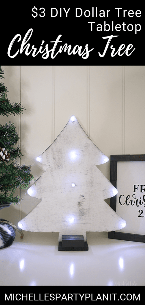 DIY Tabletop Christmas Tree Dollar Tree DIY