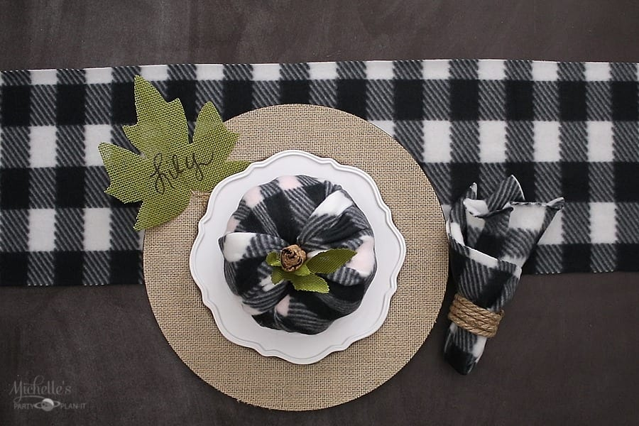Easy Fall Table Decor - Buffalo Check