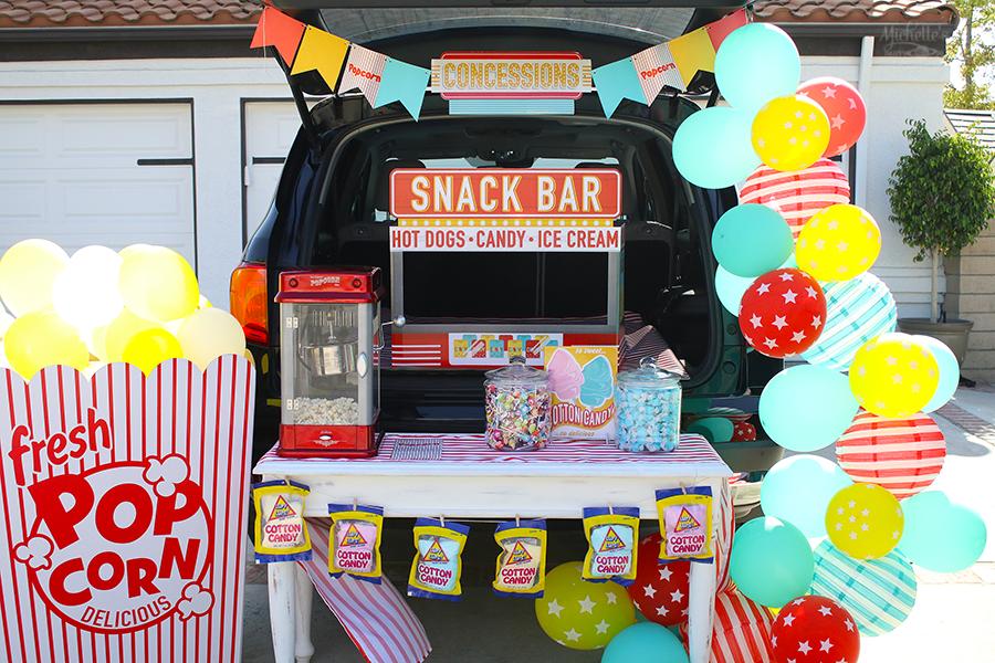 Retro Snack Bar Trunk or Treat Idea