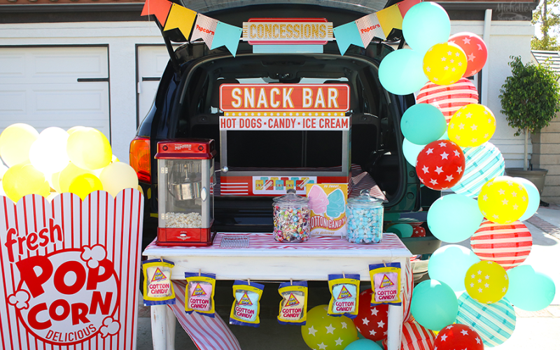Retro Snack Bar Trunk or Treat Idea