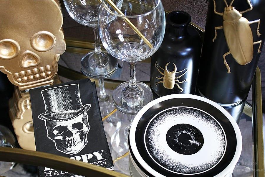 Vintage Halloween Cocktail Party Tableware
