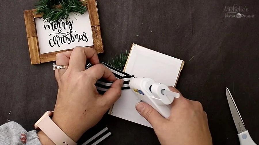 Diy farmhouse christmas ornaments ribbon