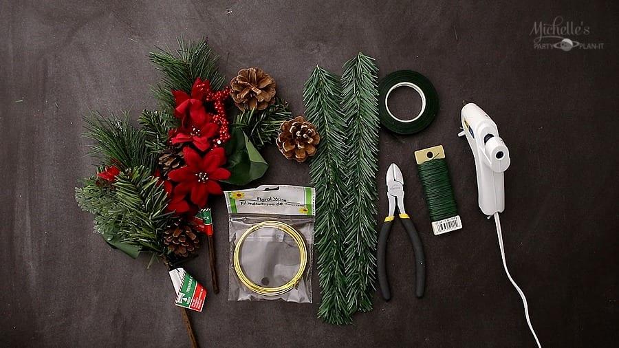 Diy gold hoop christmas wreath dollar tree diy supplies
