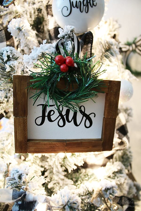 Farmhouse Christmas tree ornaments - Jesus