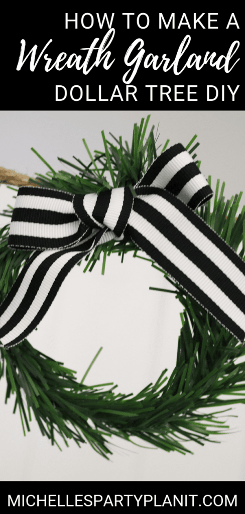 How to make a wreath garland dollar tree christmas diy