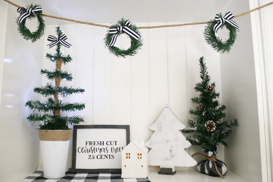 Dollar Tree Christmas.How To Make A Wreath Garland Dollar Tree Christmas Diy