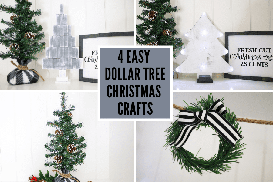 4 Easy Dollar Tree Christmas Crafts VIDEO TUTORIAL