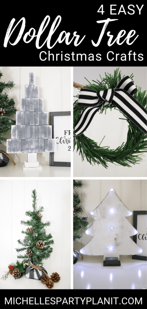 4 easy dollar tree christmas crafts