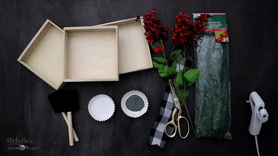Easy diy christmas tabletop sign supplies
