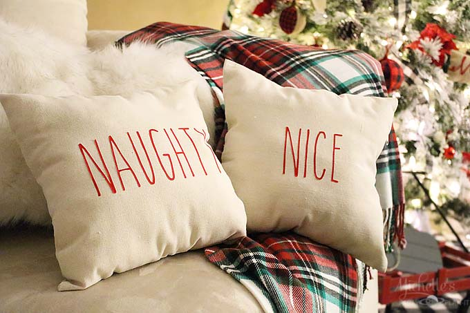 How to make Rae Dunn Inspired Christmas Pillows