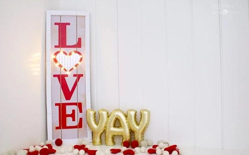 DIY Love Marquee Sign – Dollar Tree Craft