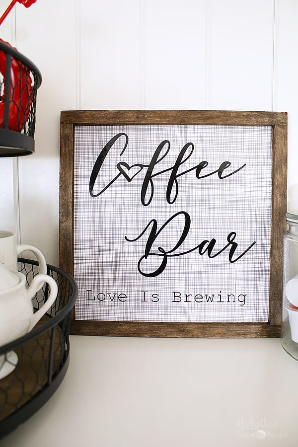 How to Make a Coffee Bar Sign with Cricut by Michelle Stewart