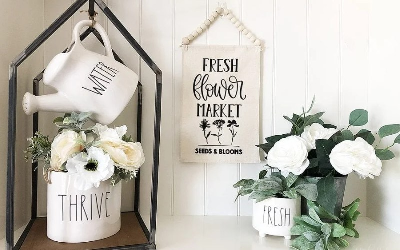 DIY Flower Market Banner with Cricut