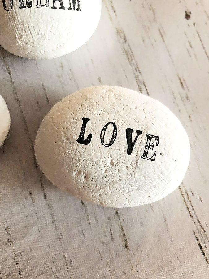 Diy word stones 1