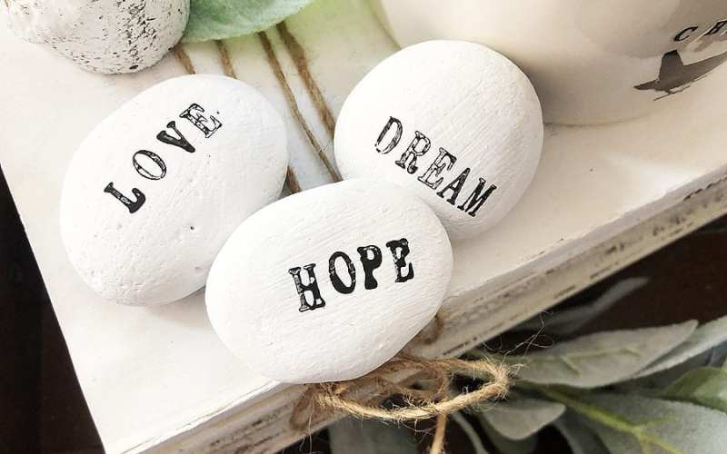 DIY Word Stones in Less than 15 minutes