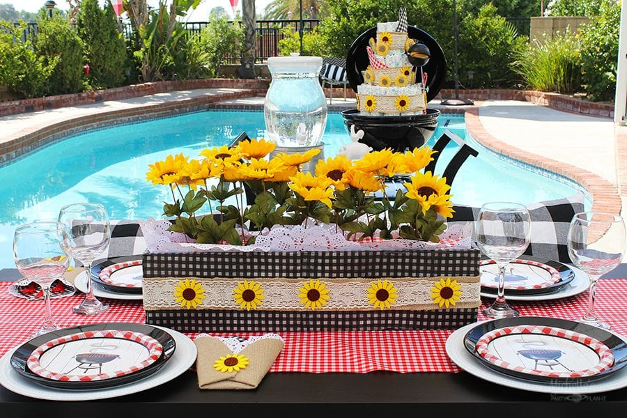 Baby shower bbq centerpiece