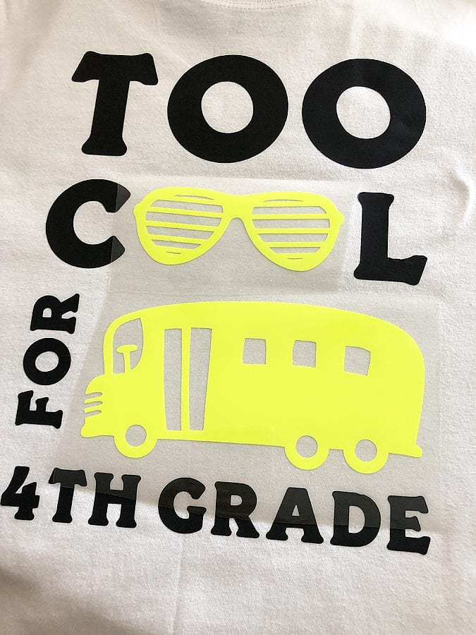 Back to school with cricut 7