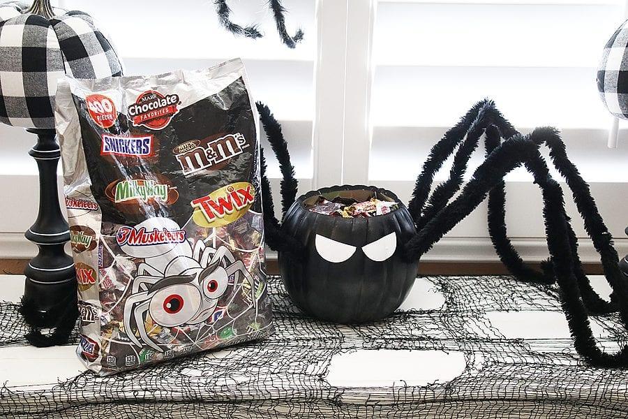 Diy spider candy bowl 18