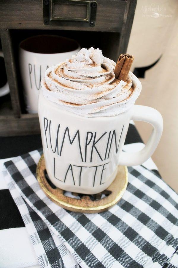 Pumpkin lattee mug