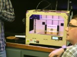 It took a couple of days to get the MakerBot working. Devon informed us that most 3-D printers, even those costing as much as $30,000, require constant tinkering to keep them working properly. Not only do you have to assemble the machine yourself, a process that is beneficial at any rate; you also have to maintain a close eye on printing operations. The extruder could clog up, the plate might get bumped out of position, and the material may not print out properly -- all for a variety of reasons. Today's 3-D printers are not ready for play right out of the box, but many members of the maker movement argue that learning how the machine works is part of the process of 3-D printing and should remain so even as 3-D printing technologies improve.
