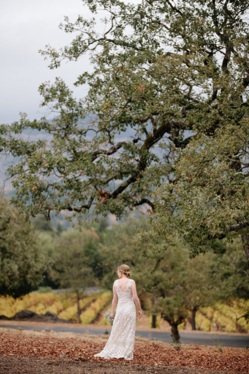 Rainy Day Wedding Domaine Chandon Yountville CA