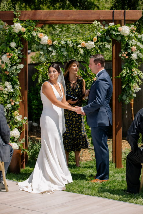 couple get married in their backyard