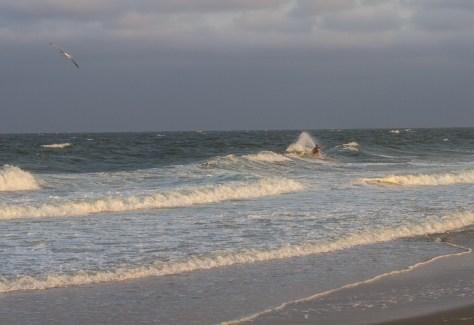 alone on an sullen sea