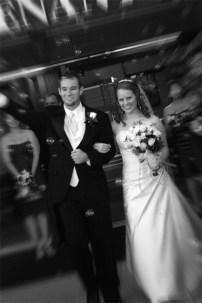 Josh & Anne making their exit