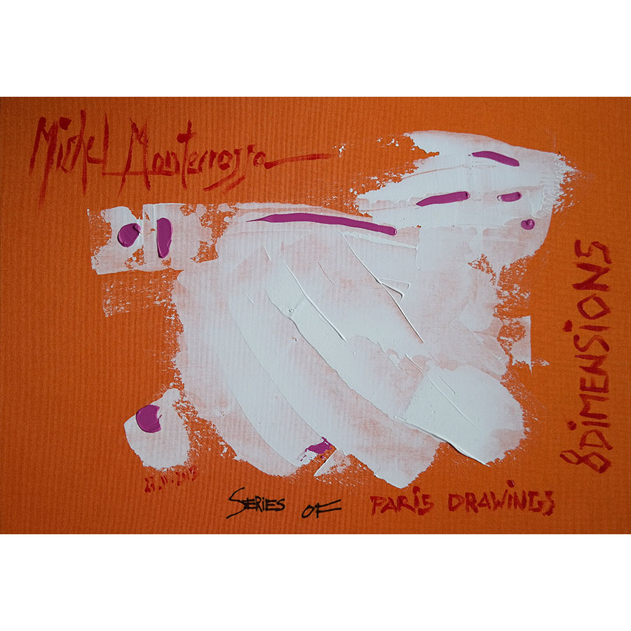 Michel Montecrossa's Box-Set, '8 Dimensions' Series Of Drawings From Paris, Cover Painting #10