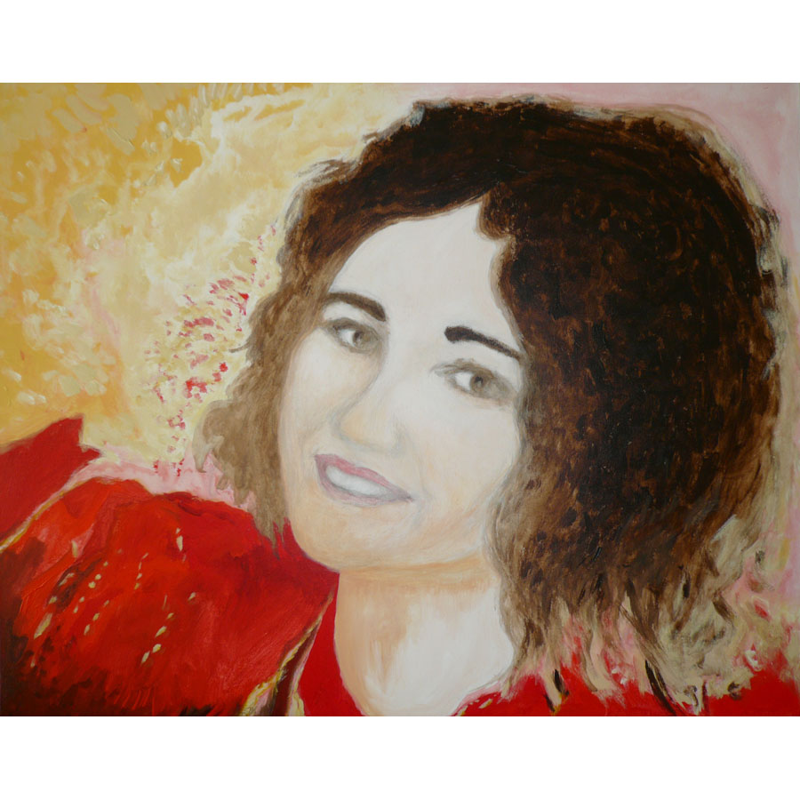 Sabrina On Bright Earth - painting by Michel Montecrossa