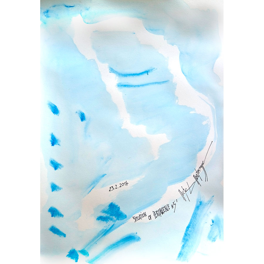 Situation Of Permanence #5 - painting by Michel Montecrossa