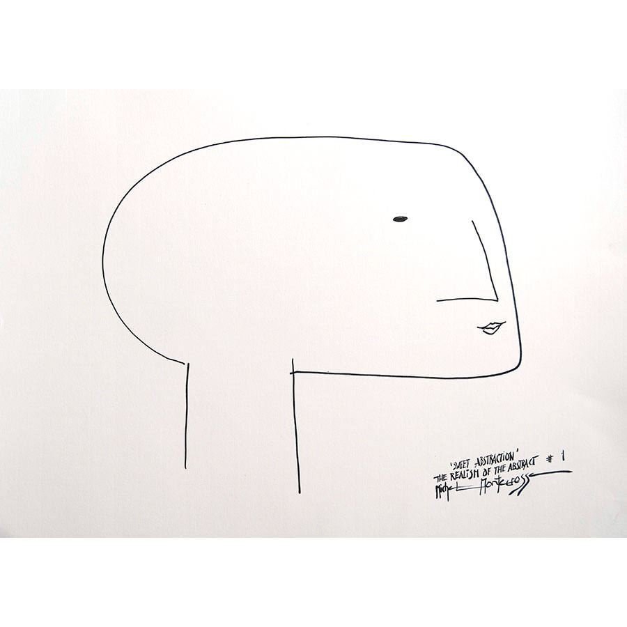 'Sweet Abstraction' The Realism Of The Abstract #1 - ink drawing by Michel Montecrossa