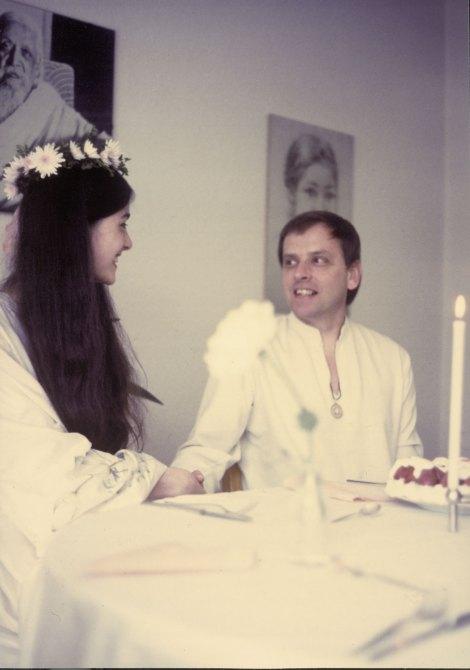Michel Montecrossa and Mirakali, marriage photo