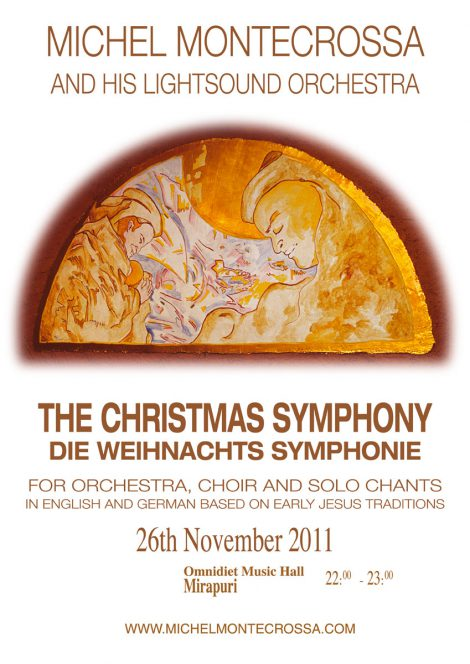 Concert Poster; Michel Montecrossa and his Lightsound Orchestra: 'The Christmas Symphony - Die Weihnachts Symphonie