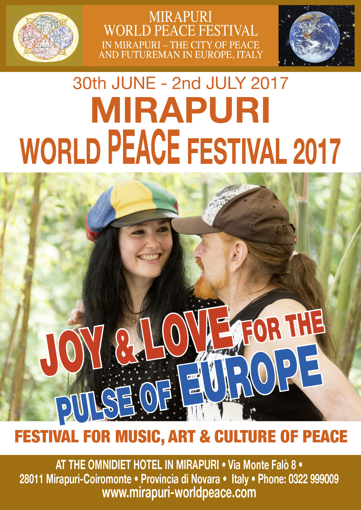 Upcoming Event Mirapuri World Peace Festival  With The Theme Joy Love For The Pulse Of Europe From Th June Nd July