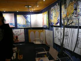 CREATION ART EXHIBITION of Michel Montecrossa paintings and drawings; preparations - picture 9