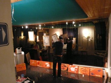 CREATION ART EXHIBITION of Michel Montecrossa paintings and drawings; preparations - picture 4