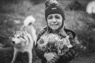 Portrait enfant en noir et blanc