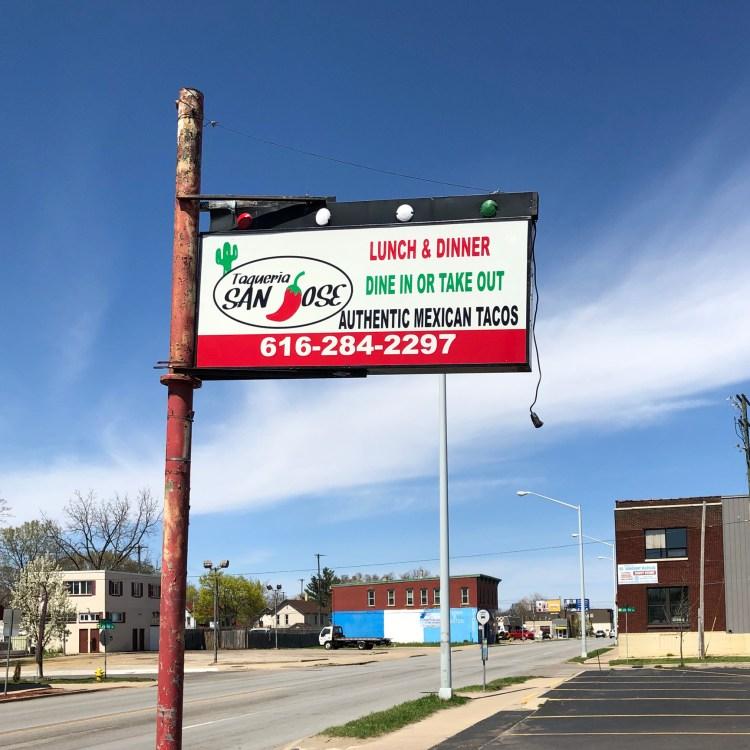 Taqueria San Jose Tacos Grand Rapids Michigan