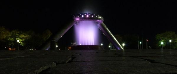The Dodge Fountain in Detroit, Michigan