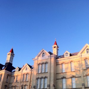 Sunrise on the Spires at The Village at Grand Traverse Commons