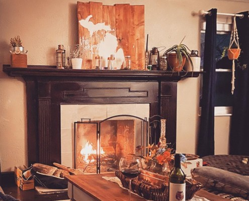 Copper House Fireplace