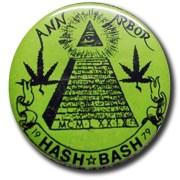 Ann Arbor Hash Bash Vintage Button