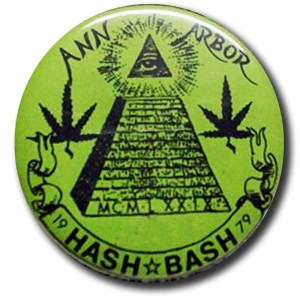 Ann Arbor Hash Bash Vintage Button