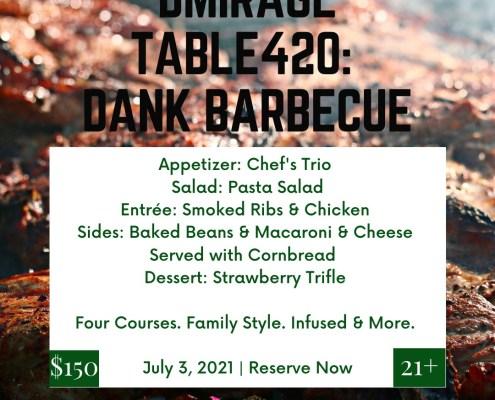 dMirage Table 420 Dank Barbecue