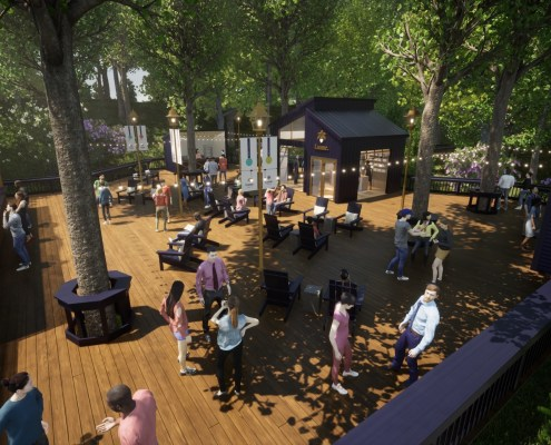 Rendering of Lume Tree House at DTE Energy Music Theatre