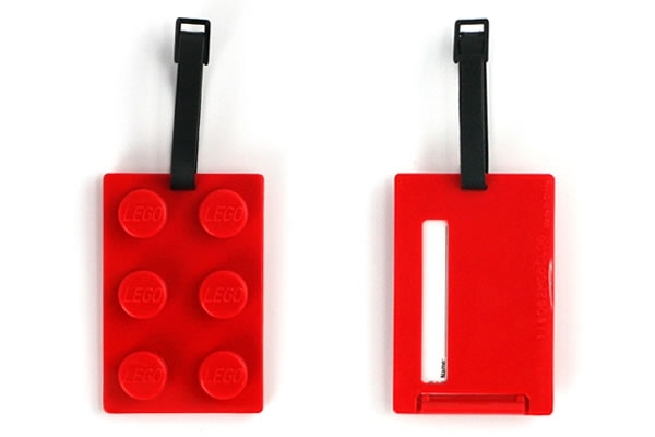 Lego Luggage Tags - travel accessories for geeks