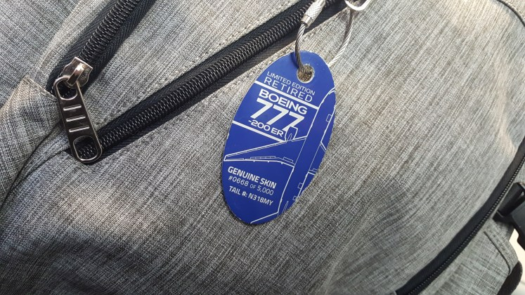plane tags on luggage