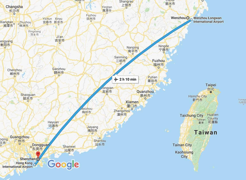 Wenzhou to Shenzhen - Google Maps